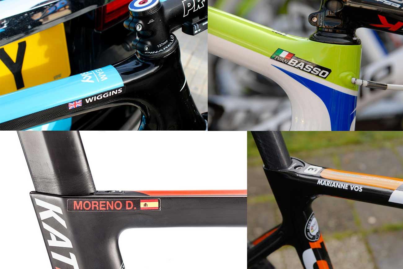 namn-klistermärken för din cykel