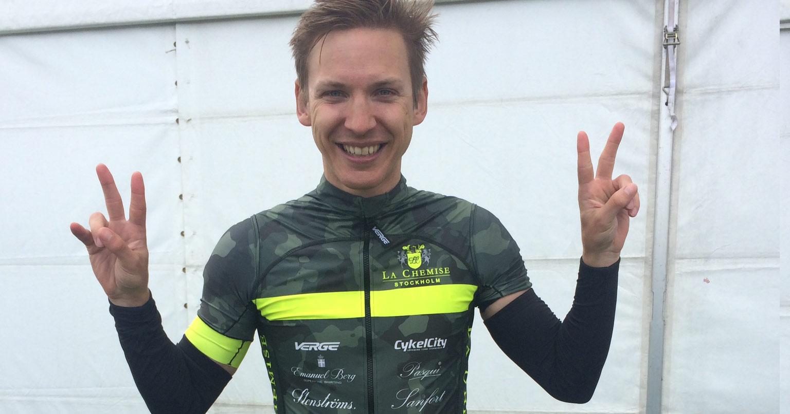 Gustaf Rosin är inte bara vår träningsexpert. Han är också duktig cyklist och inte minst läkare. Klart vi litar på honom!