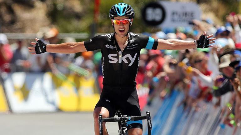 Richie Porte vann på Willunga Hill förra året. Foto: Team Sky