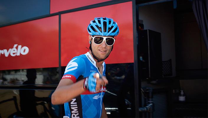 Ryder Hesjedal i POC-brillor under Girot 2012.